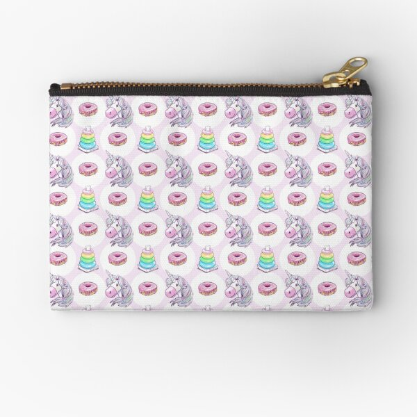 Unicorn Donut Ring Stack Game Zipper Pouch
