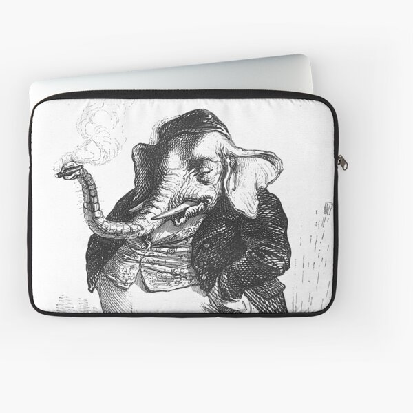 Vintage Elephant Drawing from Public and private life of animals (1877) Laptop Sleeve