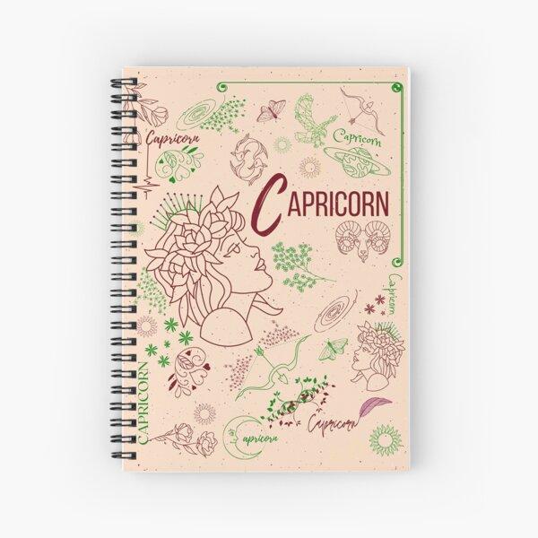 Cappuccino Capricorn Zodiac Horoscope Design Spiral Notebook