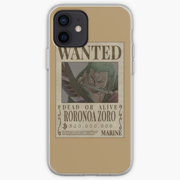 """""""Zoro Wanted"""" Anime Sticker  iPhone Soft Case"""