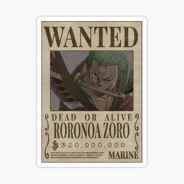 """Zoro Wanted"" Anime Sticker  Sticker"