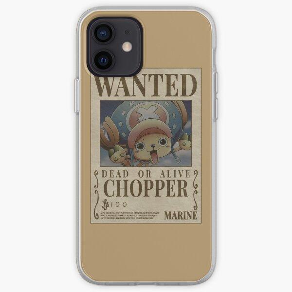 """Chopper Wanted"" Anime Sticker  iPhone Soft Case"