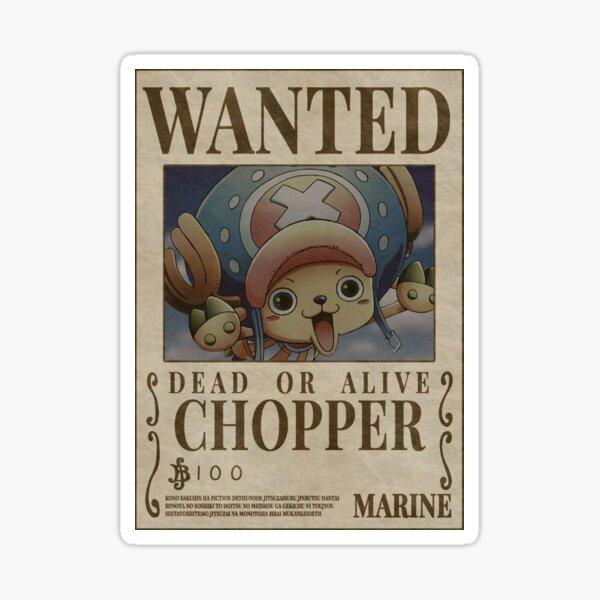 """Chopper Wanted"" Anime Sticker  Sticker"