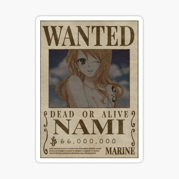 """Nami Wanted"" Anime Sticker  Sticker"