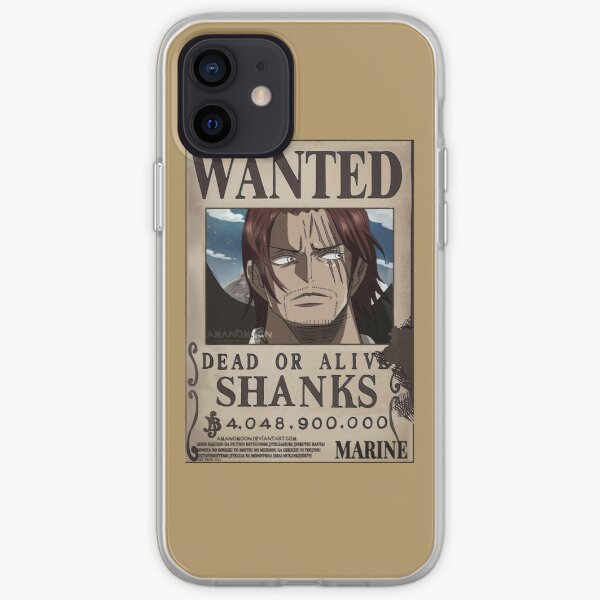 """""""Shanks Wanted"""" Anime Sticker  iPhone Soft Case"""