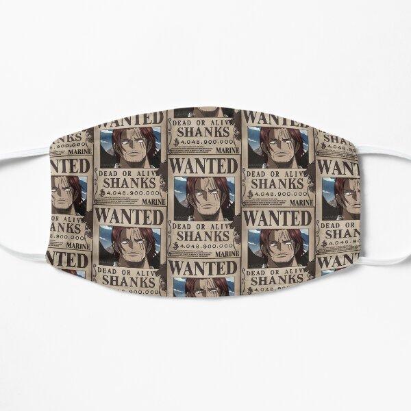 """Shanks Wanted"" Anime Sticker  Flat Mask"