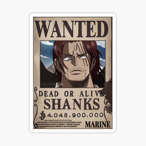 """Shanks Wanted"" Anime Sticker  Sticker"