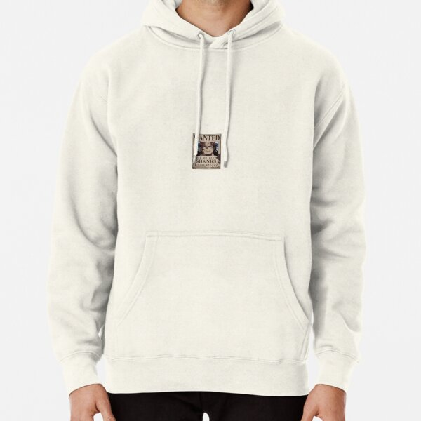 """""""Shanks Wanted"""" Anime Sticker  Pullover Hoodie"""