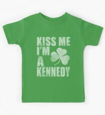 Irish Kiss Me I'm A Kennedy Kids Tee