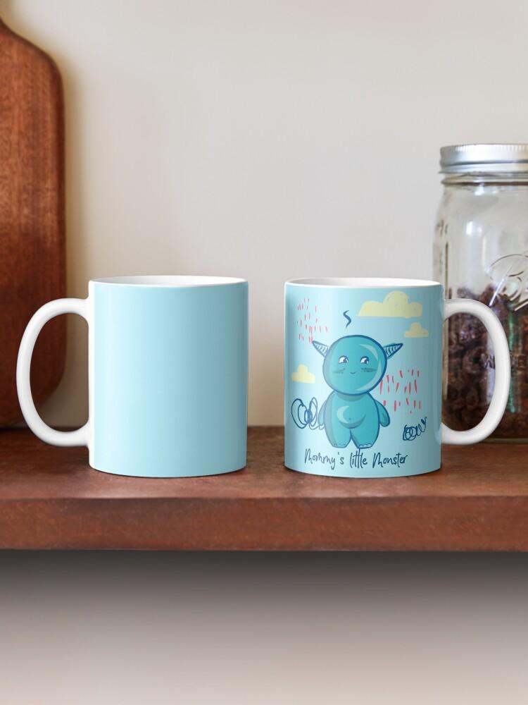 Alternate view of Mommy's little monster Mug