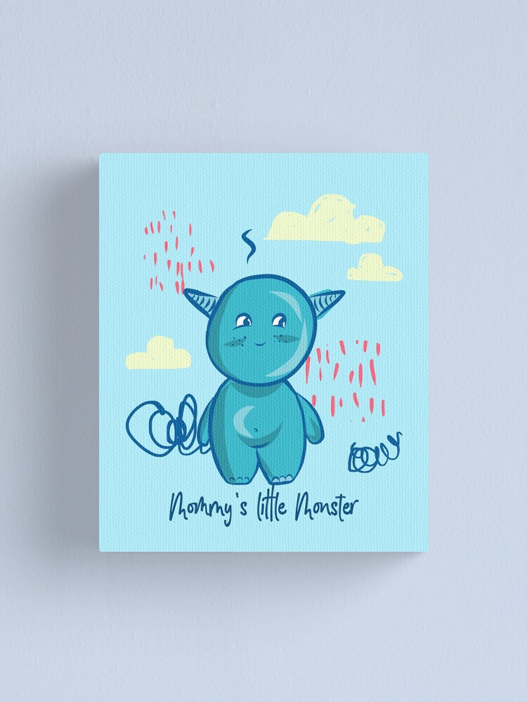 Alternate view of Mommy's little monster Canvas Print