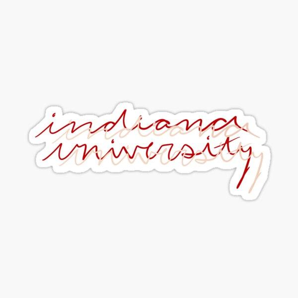 Indiana University Print in Cream & Crimson Sticker