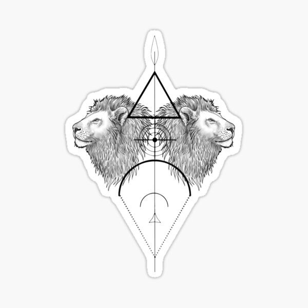 lion geometric Sticker
