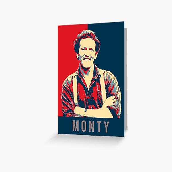 Illustration Pop Art Monty Don TV Presenter Gardener Greeting Card