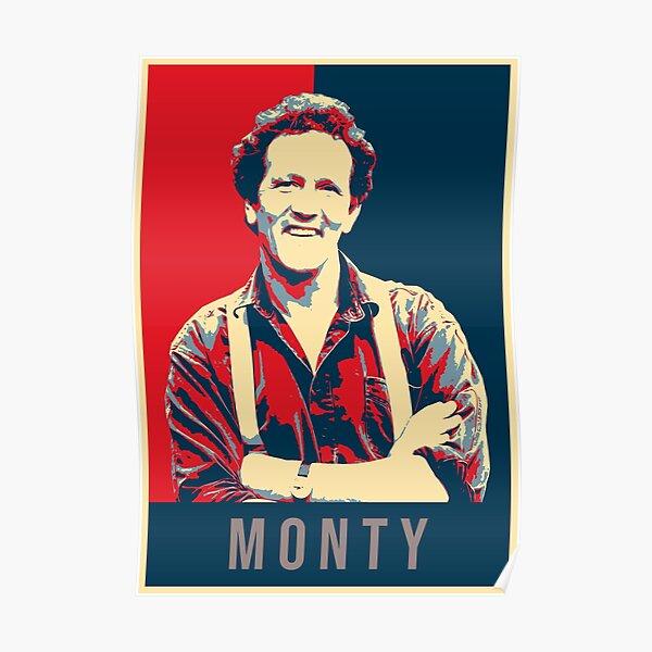 Illustration Pop Art Monty Don TV Presenter Gardener Poster