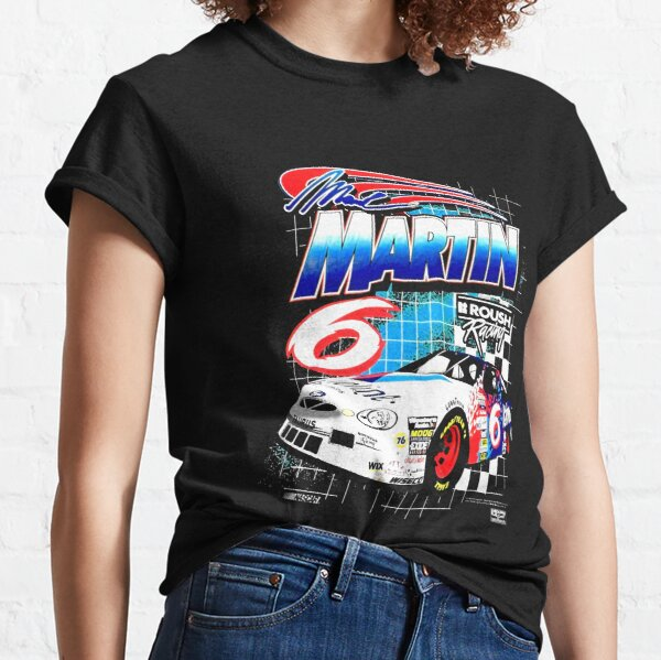 Vintage de los 90 NASCAR Mark Martin Roush Racing Camiseta clásica