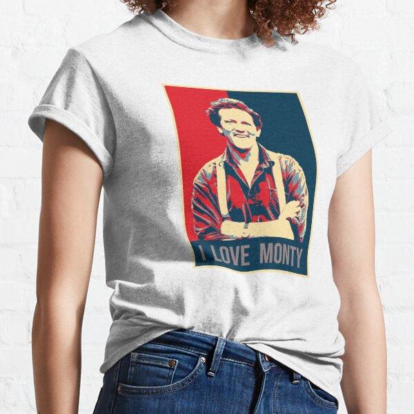 Illustration Pop Art I Love Monty Don TV Presenter Gardener Classic T-Shirt