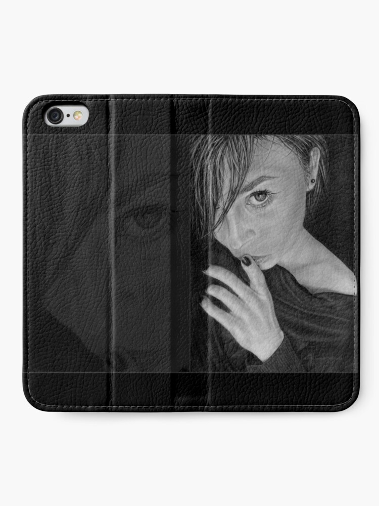 Alternate view of Keeping Secrets: Original drawing by Dean Sidwell iPhone Wallet