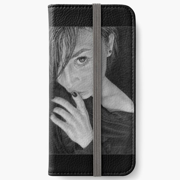 Keeping Secrets: Original drawing by Dean Sidwell iPhone Wallet