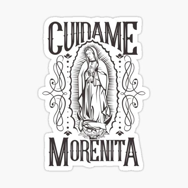 Virgen de Guadalupe cuídame morenita Pegatina