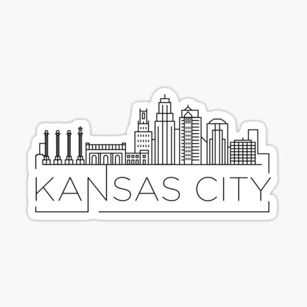 Kansas City Minimal Skyline  Sticker