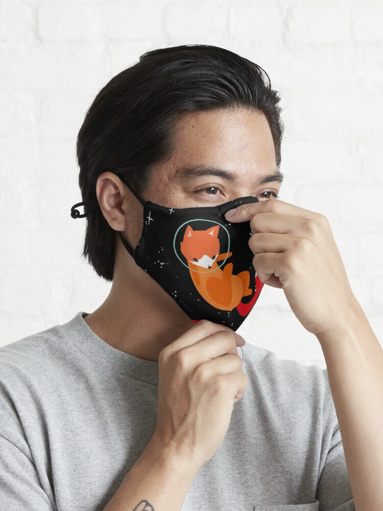 Alternate view of Space Foxes Mask