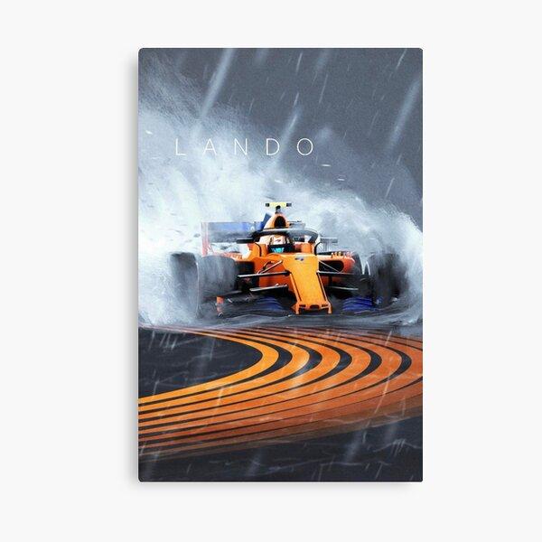 Lando Norris formula one F1 Mclaren wet race Canvas Print