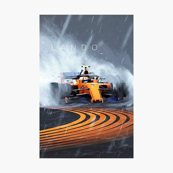 Lando Norris formula one F1 Mclaren wet race Photographic Print