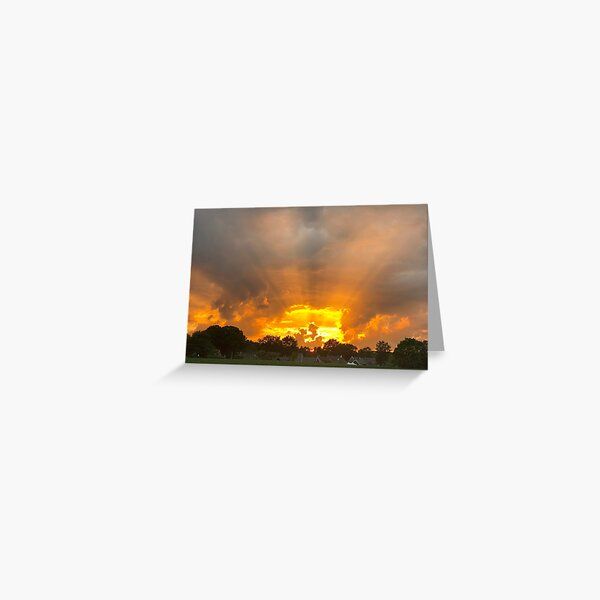 Sunset Norg/ Netherlands Greeting Card