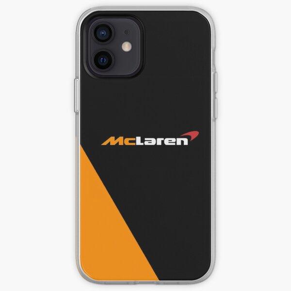 Création du logo McLaren Formula One F1 noir et orange Coque souple iPhone