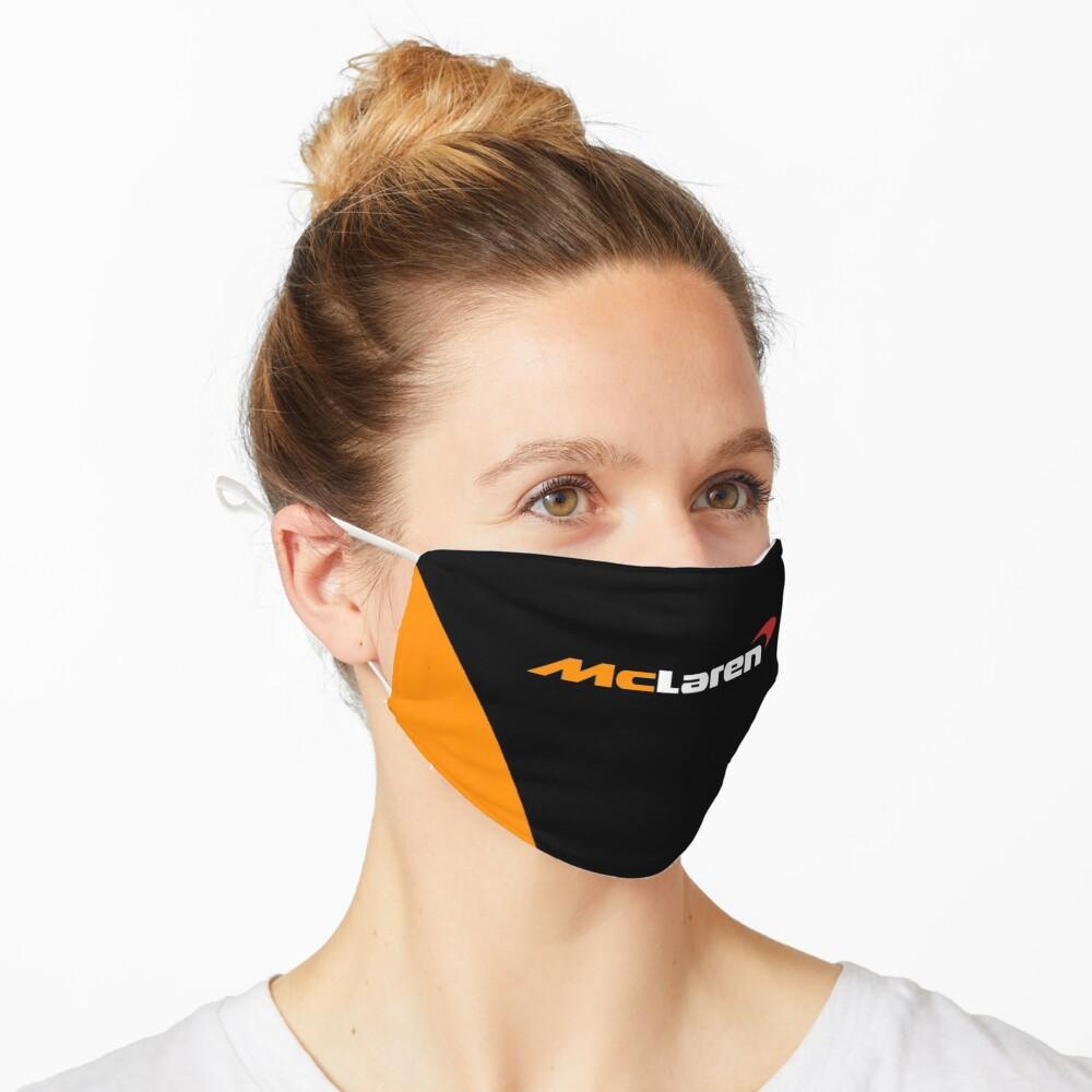 Masque «Création du logo McLaren Formula One F1 noir et orange»