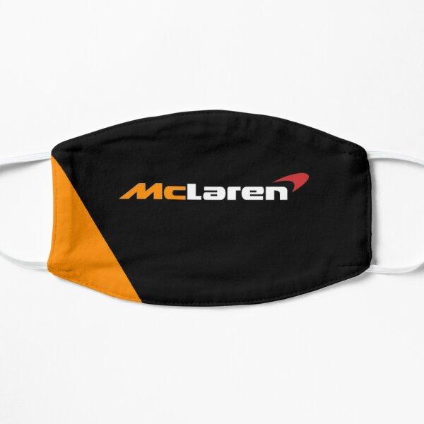 Création du logo McLaren Formula One F1 noir et orange Masque sans plis