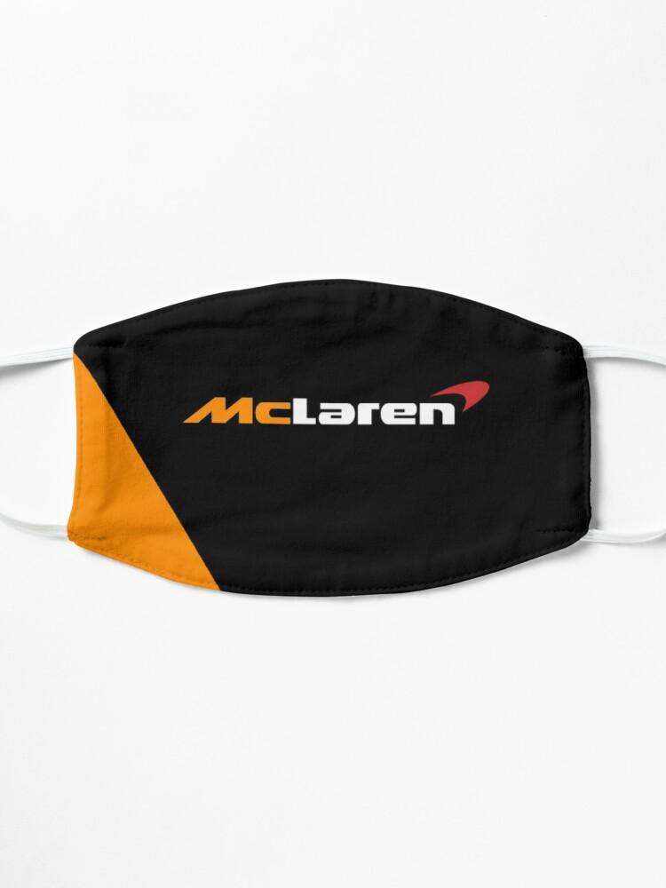 Masque ''Création du logo McLaren Formula One F1 noir et orange': autre vue