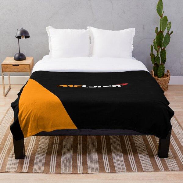 Mclaren formula one F1 logo design black and orange Throw Blanket