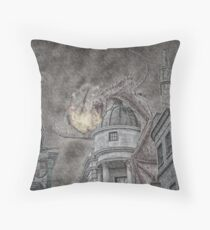 Hungarian Horntail Dragon in Red Throw Pillow