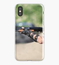 shooter with a shotgun iPhone Case/Skin