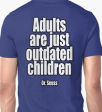 Dr. Seuss, Adults are just outdated children. Navy, Blue Unisex T-Shirt