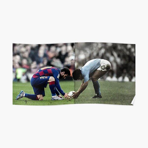 Póster Diego Maradona - Leo Messi Póster
