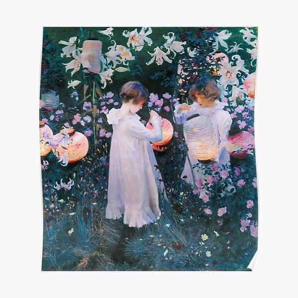 John Singer Sargent - Carnation, Lily, Lily, Rose (1886) Poster