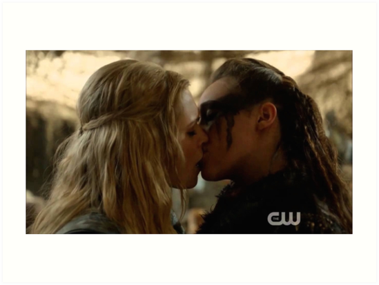 Quot Clexa Kiss Quot Art Prints By Another Fangirl Redbubble