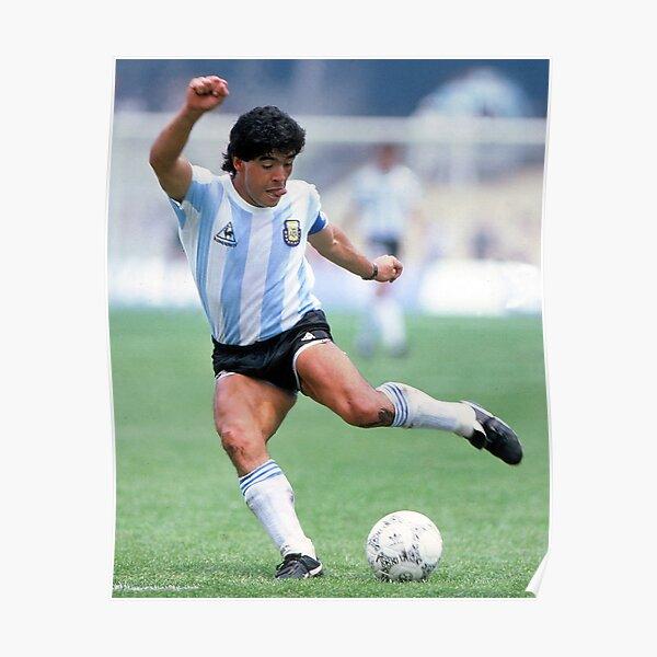 Diego Maradona Naples Poster