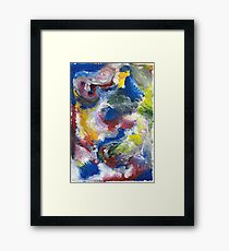 Original Abstract Acrylic Painting Framed Print