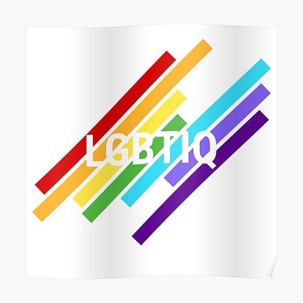 LGBTIQ stripes Poster