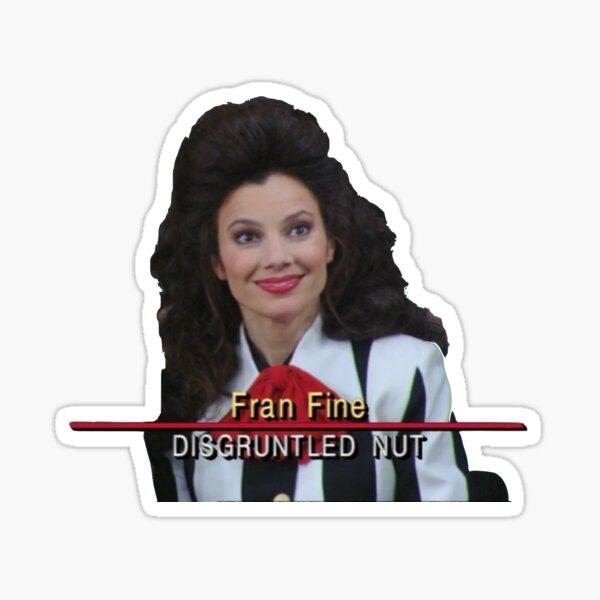 Fran Fine: Disgruntled Nut Sticker