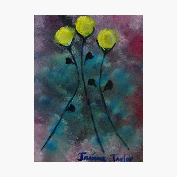 Dancing Yellow Flowers Photographic Print