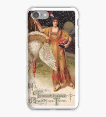 Bountiful Holiday Turkey American Maiden Vintage iPhone Case/Skin