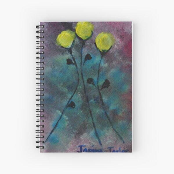 Dancing Yellow Flowers Spiral Notebook