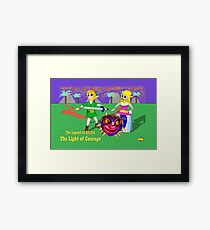 The Light of Courage: Volcano Forest Framed Print
