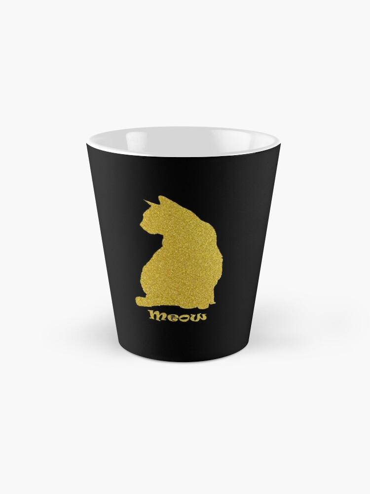 Alternate view of Golden Cat  Mug