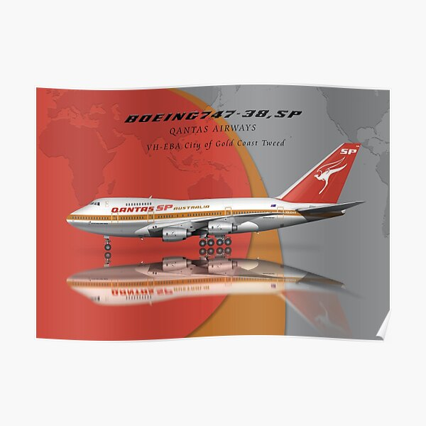 The Qantas Boeing 747-SP-38 Poster